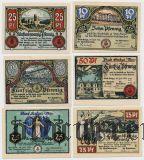 Бад-Зульца (Bad Sulza), 6 нотгельдов 1921 года