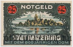 Ратцебург (Ratzeburg), 25 пфеннингов 1921 года