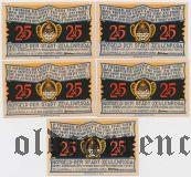 Цойленрода (Zeulenroda), 5 нотгельдов 1921 года