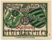 Каменц (Kamenz), 10 пфеннингов 1921 года