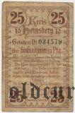 Хайнсберг (Heinsberg), 25 пфеннингов 1919 года