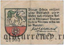 Лорх (Lorch), 10 пфеннингов 1920 года. Вар. 2