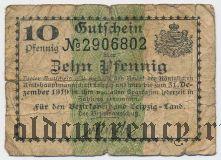 Лейпциг (Leipzig), 10 пфеннингов 1919 года