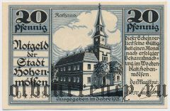 Хоэнмёльзен (Hohenmölsen), 20 пфеннингов 1921 года