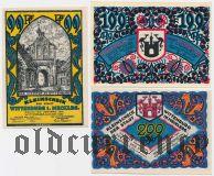 Виттенбург (Wittenburg), 3 нотгельда 1922 года