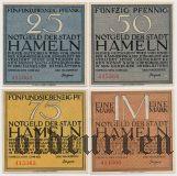 Хамельн (Hameln), 4 нотгельда 1921 года