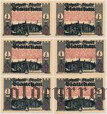 Глаухау (Glauchau), 6 нотгельдов 1921 года