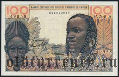 Западно Африканские Штаты, Кот д'Дивуар, 100 франков 1964 года