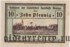 Волау (Wohlau), 10 пфеннингов 1920 года