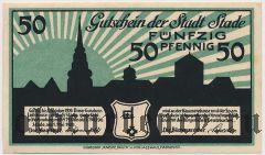 Штаде (Stade), 50 пфеннингов 1920 года