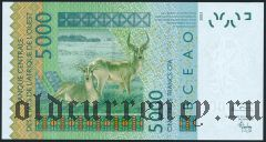 Западно Африканские Штаты, Кот д'Дивуар, 5000 франков 2003 года