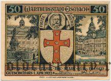 Айзенах (Eisenach), 50 пфеннингов 1922 года