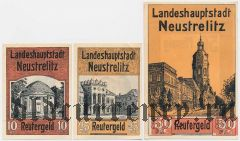 Нойштрелиц (Neustrelitz), 3 нотгельда 1922 года