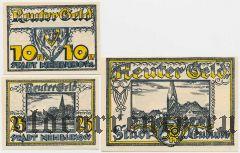 Нойбуков (Neubukow), 3 нотгельда 1922 года