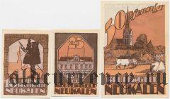 Нойкален (Neukalen), 3 нотгельда 1922 года