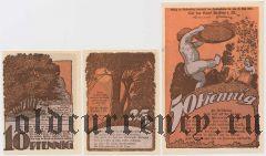 Краков (Krakow), 3 нотгельда 1922 года