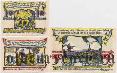 Крёпелин (Kröpelin), 3 нотгельда 1922 года