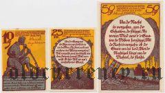 Мальхин (Malchin), 3 нотгельда 1922 года