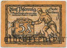 Фрайберг (Freiberg), 5 пфеннингов 1921 года