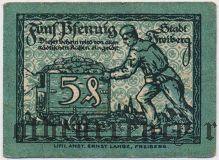 Фрайберг (Freiberg), 5 пфеннингов 1920 года