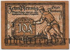 Фрайберг (Freiberg), 10 пфеннингов 1920 года