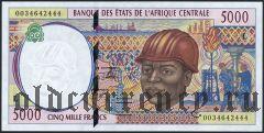 Центральн Африканские Штаты, Габон, 5000 франков 2000 года