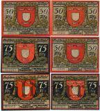Везель (Wesel), 6 нотгельдов 1921 года