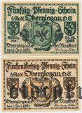 Оберглогау/Глогувек (Oberglogau), 2 нотгельда 1921 года
