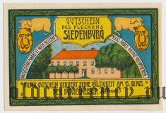 Зиденбург (Siedenburg), 75 пфеннингов 1921 года. Вар. 4