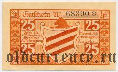 Хойм (Hoym), 25 пфеннингов 1921 года
