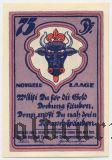 Лаге (Laage), 75 пфеннингов 1922 года