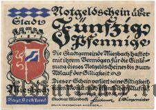 Мисбах (Miesbach), 50 пфеннингов 1920 года