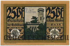 Ганн. Мюнден (Hann. Münden), 25 пфеннингов 1921 года