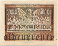 Дюссельдорф (Düsseldorf) Phoenix, 500.000 марок 1923 года