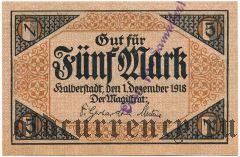 Хальберштадт (Halberstadt), 5 марок 1918 года