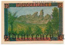 Веддерслебен (Weddersleben), 75 пфеннингов 1921 года