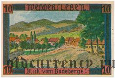Веддерслебен (Weddersleben), 10 пфеннингов 1921 года