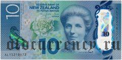 Новая Зеландия, 10 долларов 2015 года. На пластике