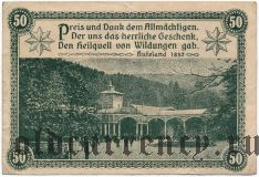 Бад-Вильдунген (Bad Wildungen), 50 пфеннингов 1921 года