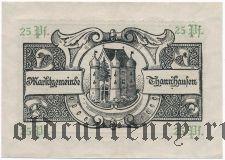 Таннхаузен (Thannhausen), 25 пфеннингов (1918) года