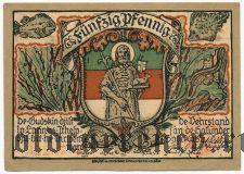 Гельголанд (Helgoland), 50 пфеннингов 1921 года. Вар. 1