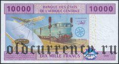 Центральн Африканские Штаты, Камерун, 10.000 франков 2002 года