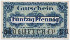 Ганновер (Hannover), 50 пфеннингов 1919 года