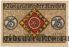 Хайлигенштадт (Heiligenstadt), 25 пфеннингов 1919 года