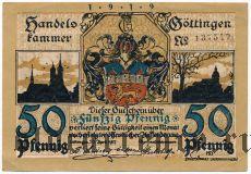 Гёттинген (Göttingen), 50 пфеннингов 1919 года