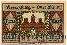 Кройцбург (Kreuzburg), 1 марка 1921 года. Вар. 2