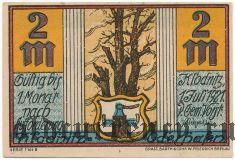 Клодниц (Klodnitz), 2 марки 1921 года