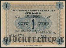 Германия, Köln-RH, 1 марка 1918 года