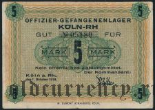 Германия, Köln-RH, 5 марок 1918 года
