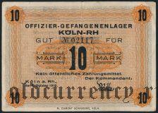 Германия, Köln-RH, 10 марок 1918 года